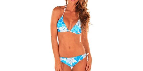 Dámske modro-biele kvetované plavky Bikiniki