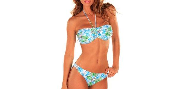 Dámske viacfarebné plavky so vzorom Bikiniki