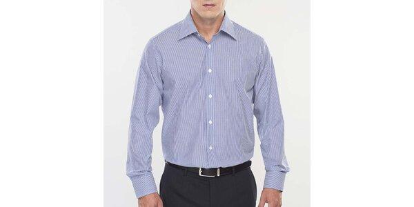 Pánska modro-biela prúžkovaná košeľa Blažek