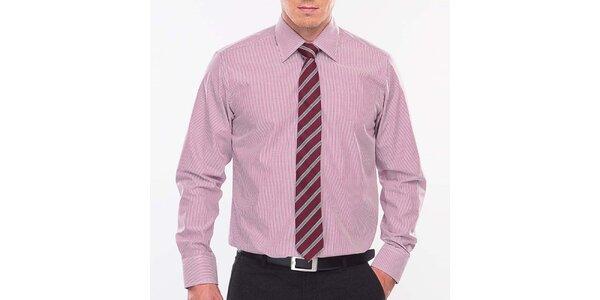Pánska ružovo-biela prúžkovaná košeľa Blažek