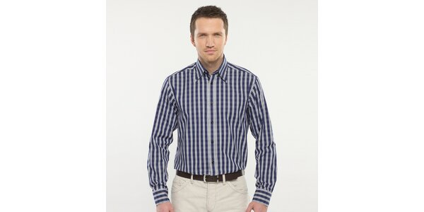 Pánska modro kockovaná košeľa Blažek