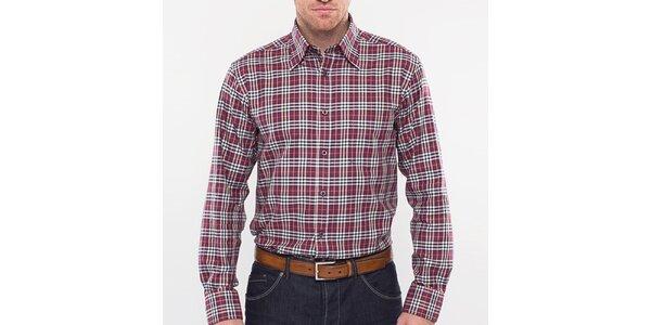 Pánska červená kockovaná košeľa Blažek