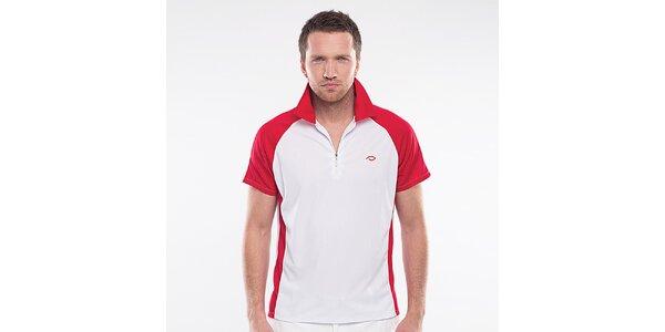 Pánske bielo-červené športové tričko Blažek