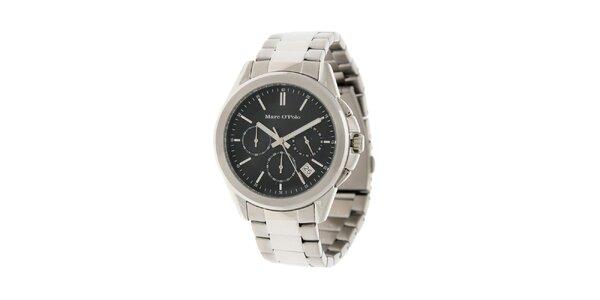 Pánske náramkové hodinky Marc O´Polo s čiernym ciferníkom