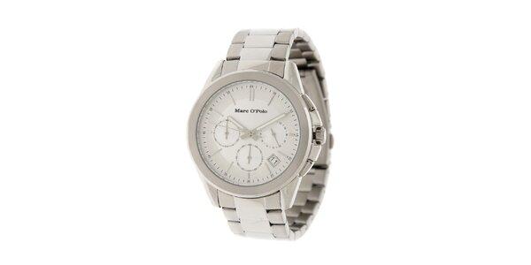 Pánske náramkové hodinky Marc O´Polo so strieborným ciferníkom