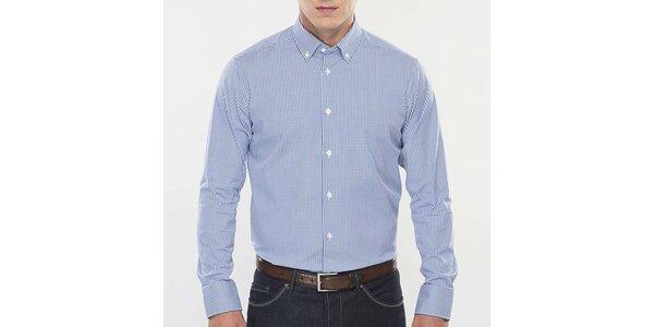 Pánska modro-bielo kockovaná košeľa Blažek