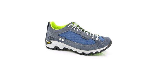 Unisex modro-neonové športové topánky Kimberfeel