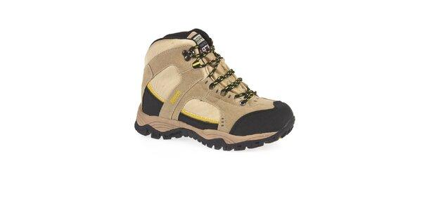 Unisex béžové členkové trekové topánky Kimberfeel