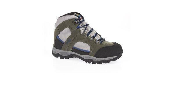 Unisex šedé členkové trekové topánky Kimberfeel