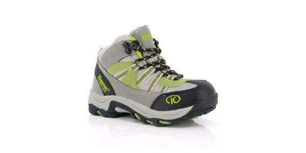 Dámske členkové trekové topánky so zelenými prvkami Kimberfeel