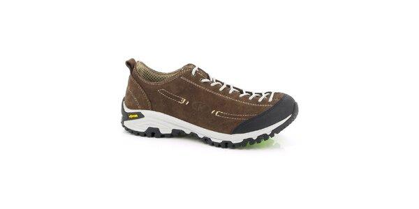 Unisex nízke hnedé outdoorové topánky Kimberfeel