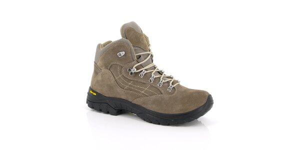 Unisex béžové trekové členkové topánky Kimberfeel
