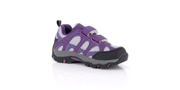 Dámske fialové tenisky na suchý zips Kimberfeel