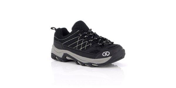 Dámske čierne topánky s prešívaním Kimberfeel