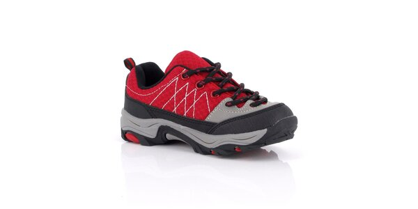 Dámske červené topánky s prešívaním Kimberfeel