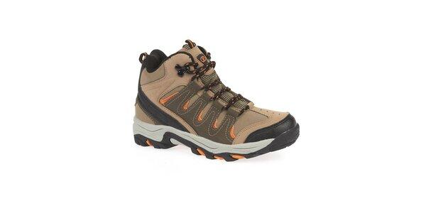 Dámske členkové trekové topánky s oranžovými detailmi Kimberfeel
