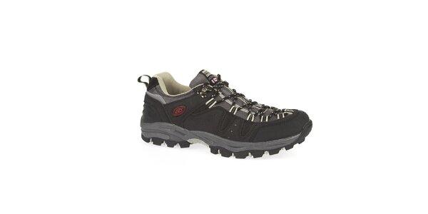 Unisex čierne nízke outdoorové topánky Kimberfeel