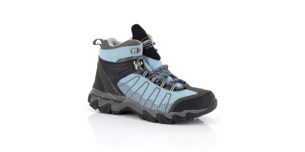 Dámske modro-šedé trekové topánky Kimberfeel