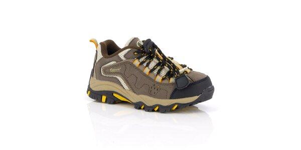 Dámske hnedo-béžové trekové topánky Kimberfeel