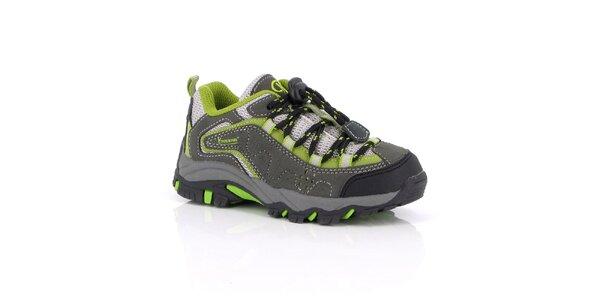Dámske trekové topánky so zelenými prvkami Kimberfeel