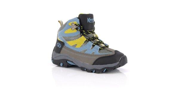 Dámske členkové topánky s modro-žltými prvkami Kimberfeel