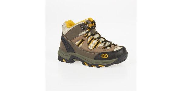 Dámske béžové outdoorové topánky Kimberfeel
