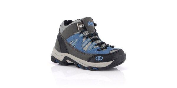 Dámske modré outdoorové topánky Kimberfeel