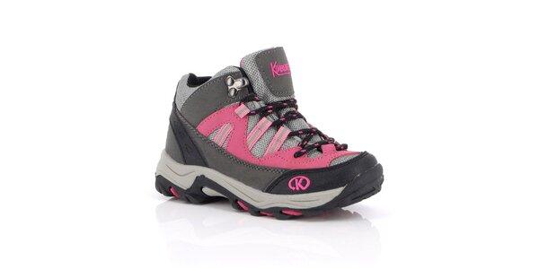 Dámske ružové outdoorové topánky Kimberfeel