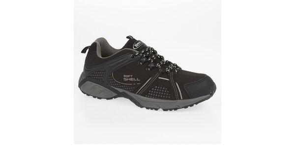 Čierne outdoorové topánky Kimberfeel
