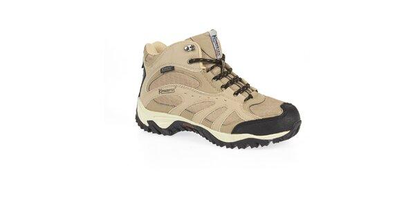 Pánske béžové trekové topánky s membránou Kimberfeel