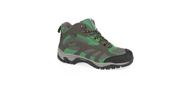 Pánske zelené trekové topánky s membránou Kimberfeel