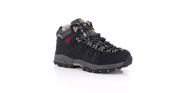 Unisex čierne outdoorové topánky Kimberfeel