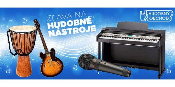Hudobné nástroje a doplnky s rôznymi zľavami