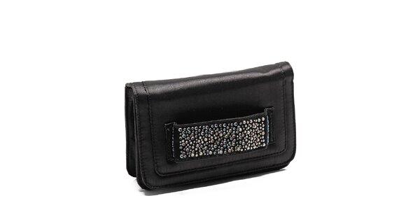 Dámska čierna kabelka Steve Madden s kamienkami
