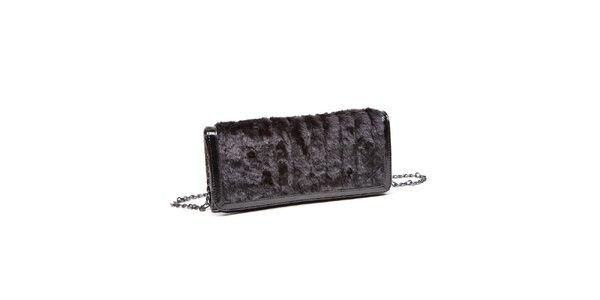 Dámska čierna kabelka Steve Madden s kožúškom