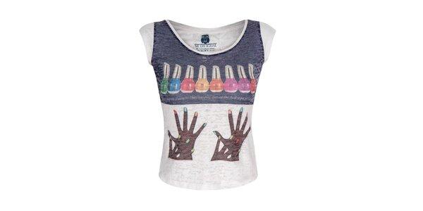 Dámske biele tričko s farebným obrázkom Me Da Igual