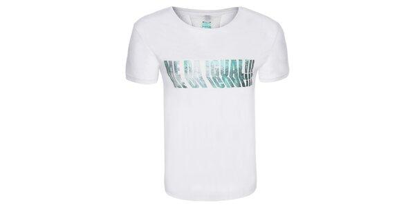 Pánske biele tričko s farebnou potlačou Me Da Igual