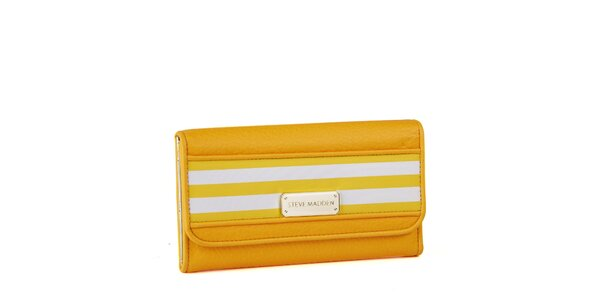 Dámska žltá peňaženka Steve Madden s prúžkami