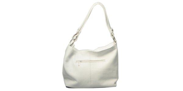 Dámska biela kabelka s jedným uchom Leonardo Farnesi