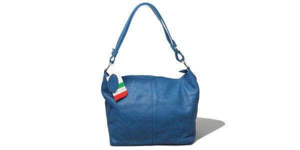 Dámska modrá kabelka s jedným uchom Leonardo Farnesi