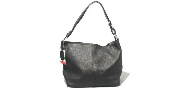 Dámska čierna kabelka s jedným uchom Leonardo Farnesi
