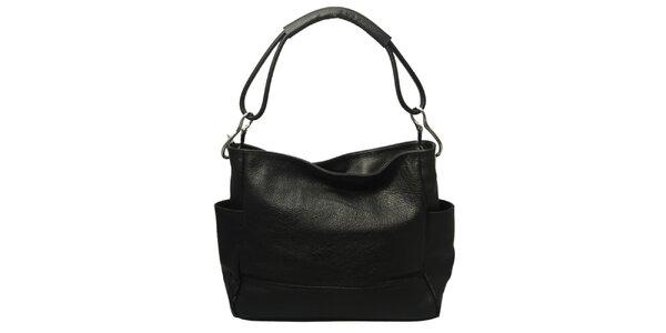 Dámska čierna kabelka s jedným popruhom Leonardo Farnesi