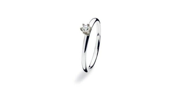 Dámsky prsteň s kamienkom Spinning