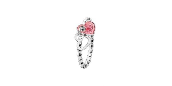 Dámsky prsteň so srdiečkami Spinning