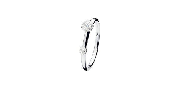 Dámsky prsteň s kvetinami Spinning