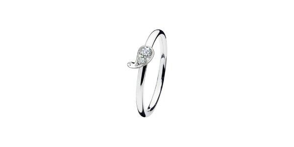 Dámsky prsteň s kvapkou Spinning