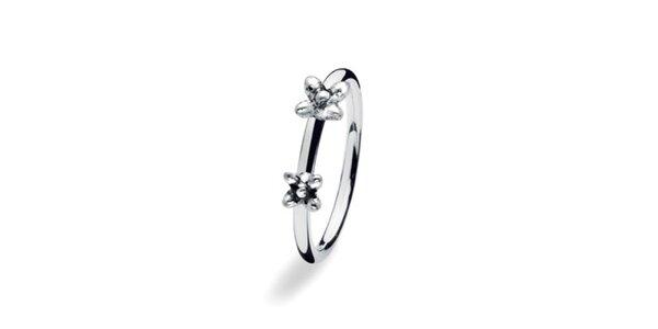 Dámsky prsteň s kvietkami Spinning