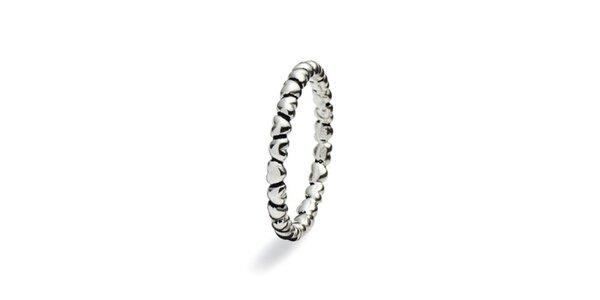 Dámsky reliéfny prsteň Spinning