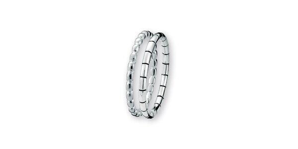 Dámsky dvojitý prsteň Spinning