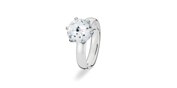 Dámsky prsteň s veľkým kamienkom Spinning